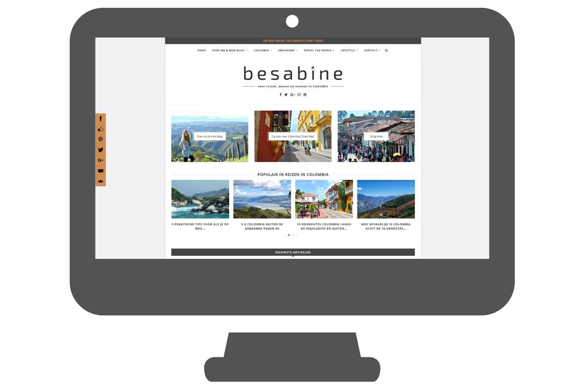 Página web para blog viajes