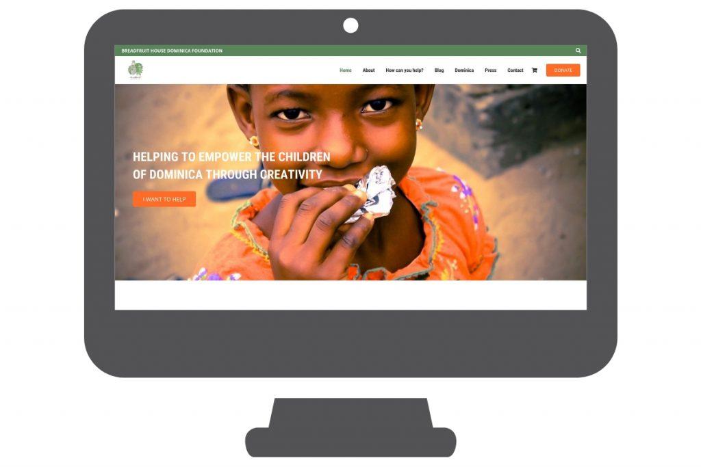 Página web wordpress para fundación para niños