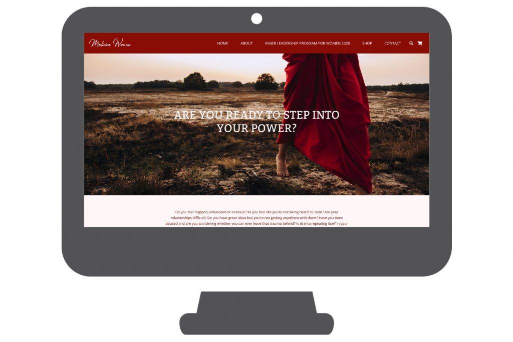 Página web para médica y meditación