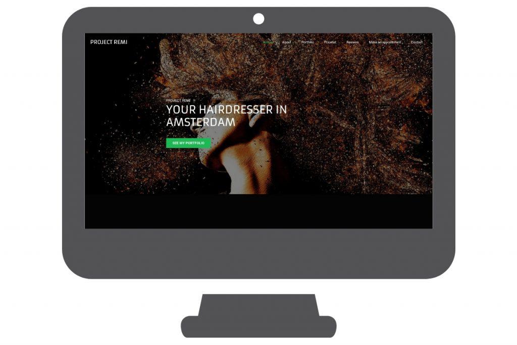 Página web WordPress para peluquería